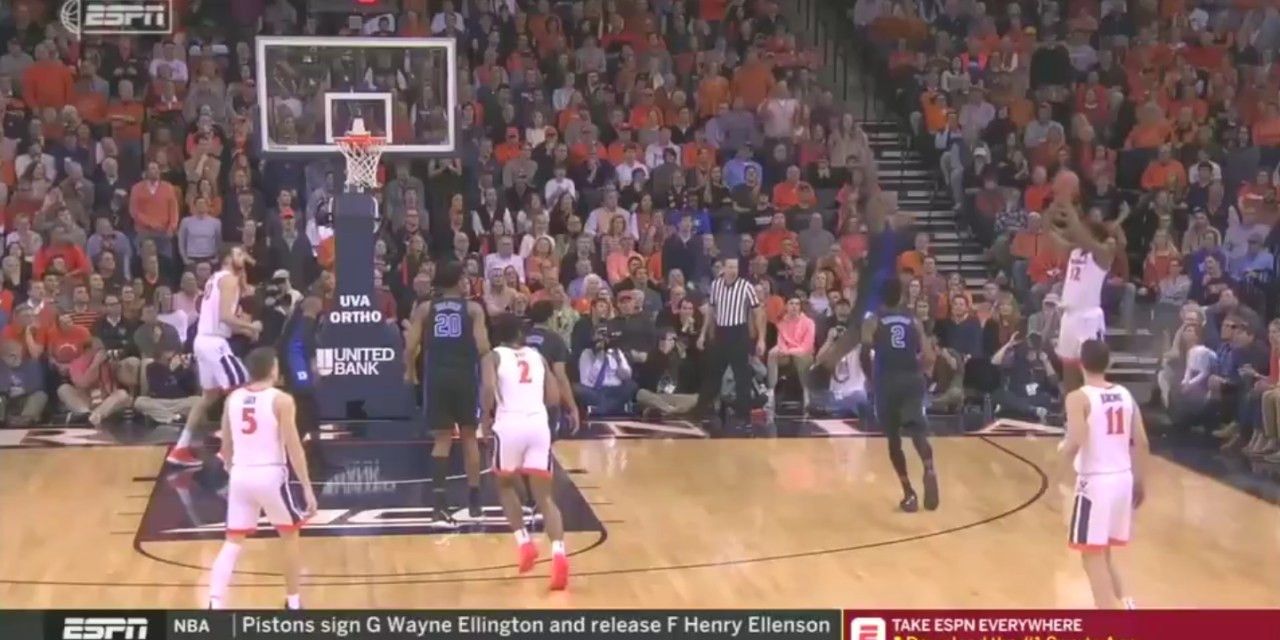 Zion Williamson Had the Block of the Year on a Three Point Shot Attempt