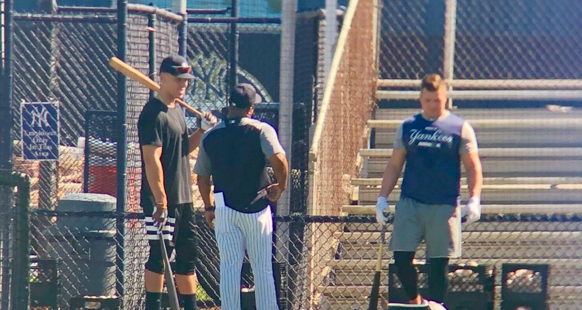 Aaron Judge Showed Up to Spring Training Early  And Is Already Hitting Dingers