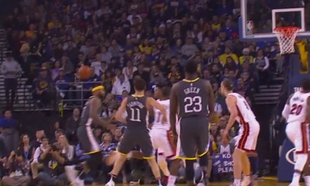 Klay Thompson Threw a Pass to Himself Off of DeMarcus Cousins' Head