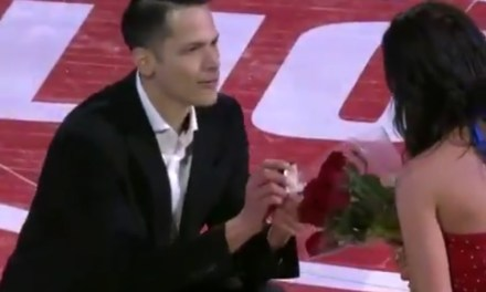 Pistons Cheerleader Got Engaged during a Timeout
