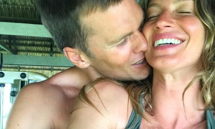 Tom Brady Gets Handsy with Gisele for Valentine's Day