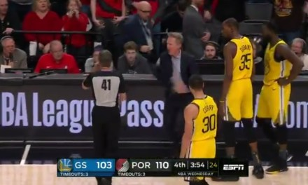 Steve Kerr Ejected for Going Off On a Referee after a Ridiculous Flagrant Foul Call on Draymond Green