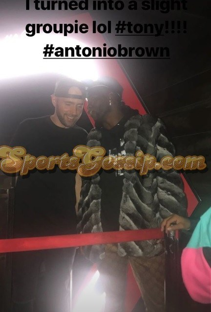 Antonio Brown Was Partying it Up All Star Weekend