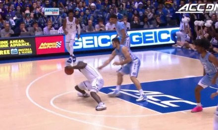 Zion Williamson Left the Duke and UNC Game Early after Injuring His Knee when His Shoe Exploded