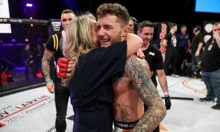 MMA Star James Gallagher Not Happy as Official Tries to Break up Celebration With His Mom
