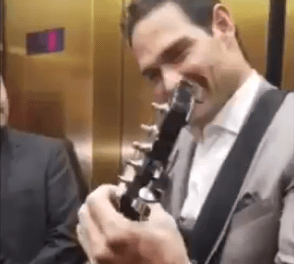 Mark Sanchez Played the Guitar and Sang for People Stuck on an Elevator