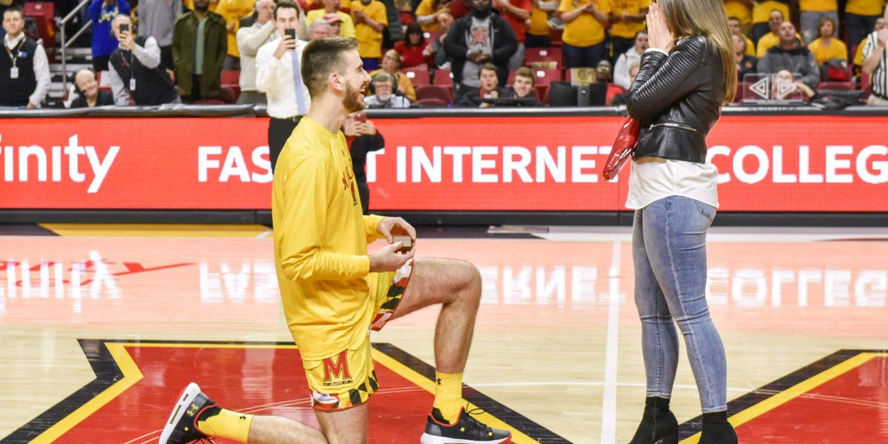 Maryland Basketball Player Ivan Bender Proposed to His Girlfriend on Senior Night