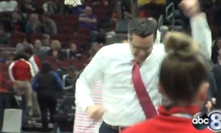 Nebraska Coach Tim Miles Wiped Out After Celebrating Win