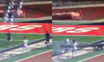 Referee Escapes Death as 80ft Light Pole Crashes Onto Him at High school Game