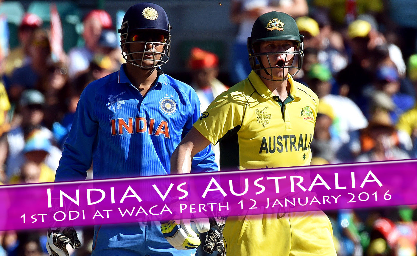 India vs. Australia 1st ODI