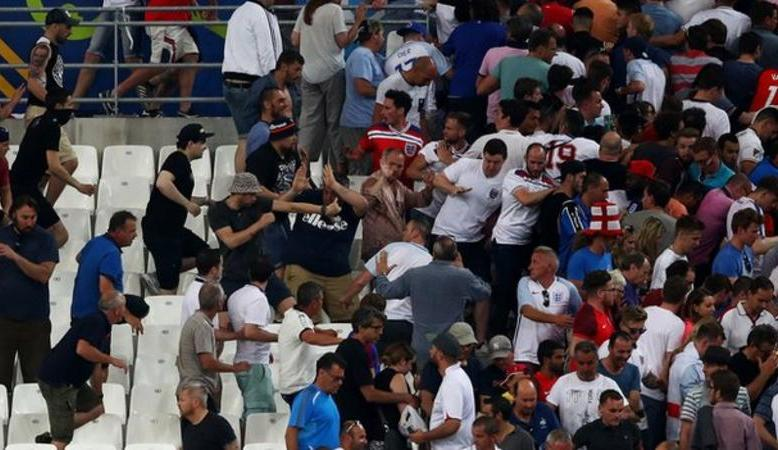 Russia soccer fans suspected of being involved in clashes at the game against England