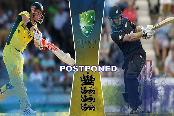 Cricket Australia has confirmed that the on-off Test match with Afghanistan and the three one-day internationals with New Zealand will have to be postponed