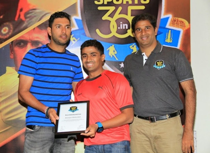 special-award-from-yuvi-for-the-performance-at-asian-games-2014