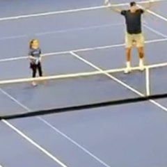 Nine-year-old holds her nerve in front of Nadal, Del Potro and er, Ben Stiller