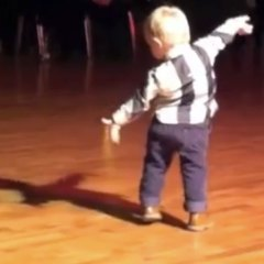 Sensational two-year-old ballroom dancer