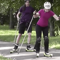 Sure, I'll try rollerskiing… what is it?