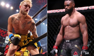 Colby Covington on Jake Paul (Left) and Tyron Woodley (Right)