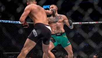 Nate Diaz slapping Conor McGregor