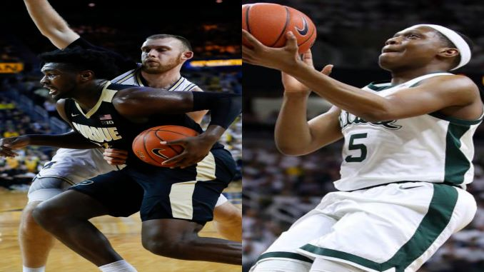 Michigan State Men's Basketball favored slightly over Purdue