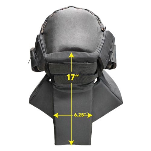 Protective Head Gear Back Dimension