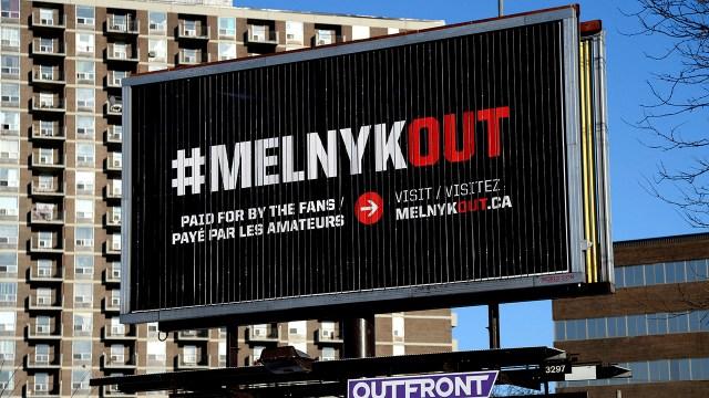 Four fan-funded 'MelnykOut' billboards go up in Ottawa - Sportsnet.ca