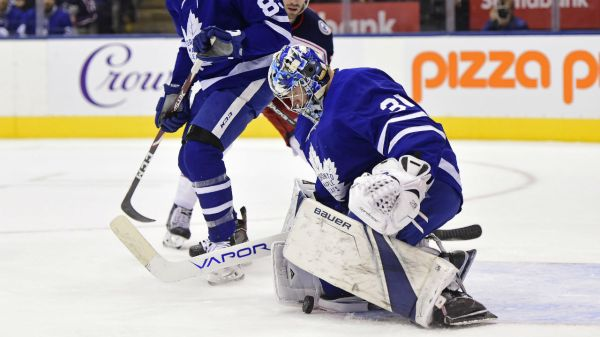 Frederik Andersen sole reason Maple Leafs earn point vs. Blue Jackets - Sportsnet.ca