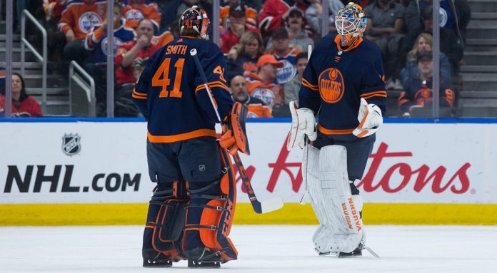 Oilers benefiting from Mike Smith, Mikko Koskinen sharing net ...