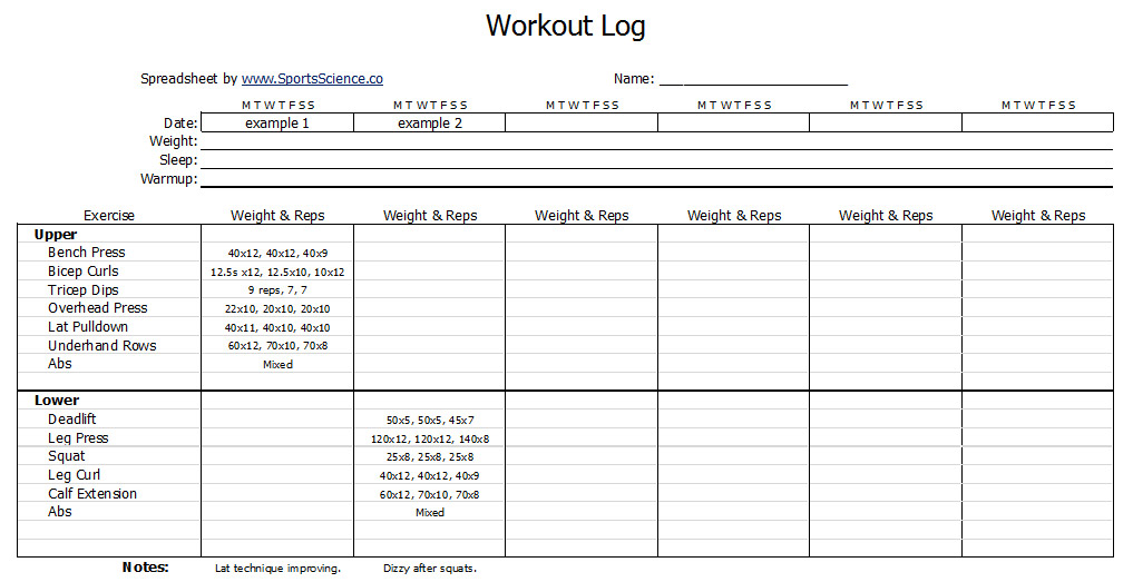 Fitness Training Template fitness schedule template 7 free – Fitness Templates Free