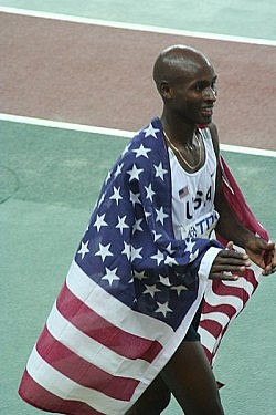 World Athletics Championships 2007 in Osaka - Bernard Lagat, double champion, after winning the men's 5000 metres. Photo by Eckhard Pecher