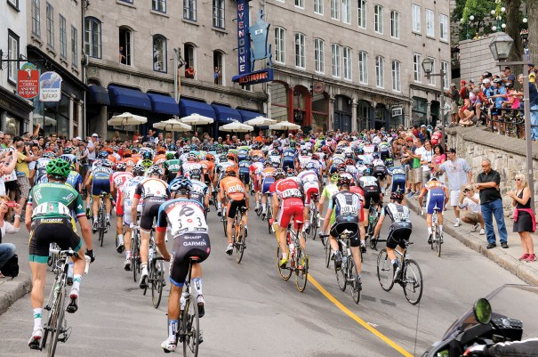 The Grand Prix Cycliste de Québec is a UCI World Tour event that covers the hilly terrain of the Canadian city. The 2013 race will be staged September 13.  Photo courtesy from Quebec City Tourism