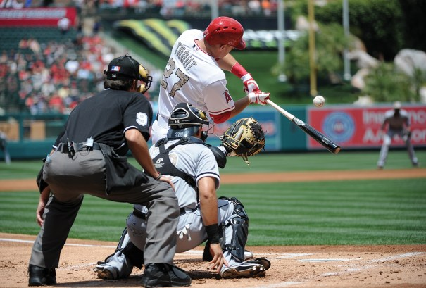 Major League Baseball's Los Angeles Angels of Anaheim play at the 45,050-seat  Angel Stadium in Anaheim, California, one of several major sports venues in the city. Image from Lisa Blumenfeld/Getty Images