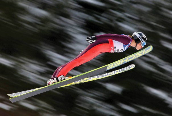 American Jessica Jerome will compete in women's ski jumping, one of several new events that will appear on the Olympic Winter Games program in Sochi. Photo courtesy of Gepa Pictures/Imago/Icon SMI
