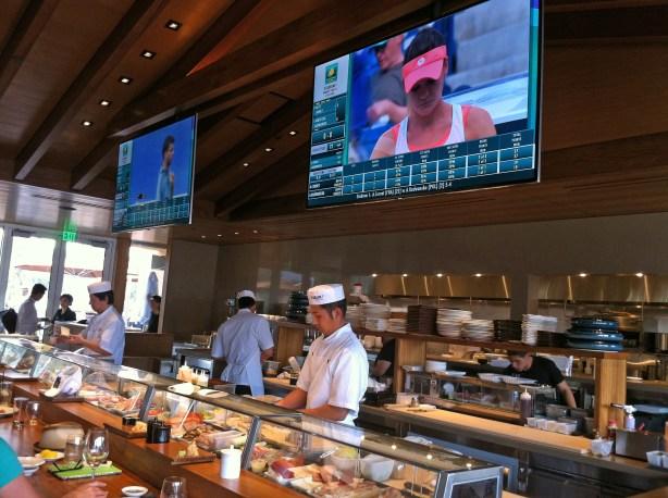 Nobu restaurant inside stadium 2 at the Indian Wells Tennis Garden.