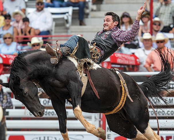 The Cheyenne Frontier Days rodeo has been an institution in the Wyoming capital city since 1897, drawing thousands of spectators for 10 days of outdoor events. Photo courtesy of Troy Babbitt/USA Today Images