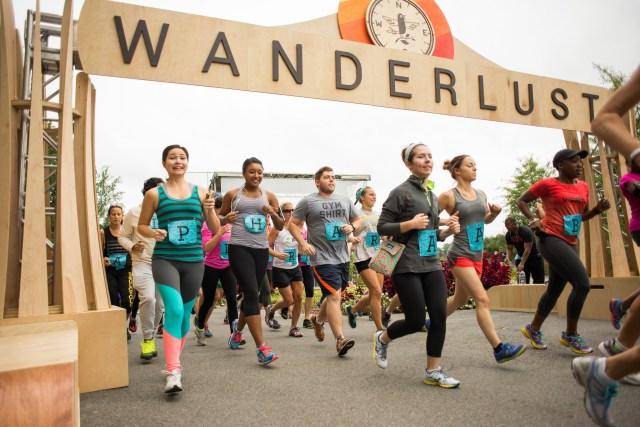 Participants began the triathlon with a 5k run around Piedmont Park in Atlanta. Photo by Joy Hmielewski for Wanderlust Festival.