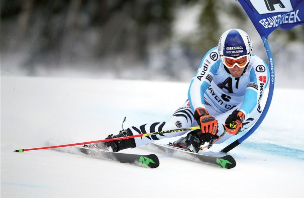 Fritz Dopfer of Germany skis the first run of the men's giant slalom at Beaver Creek in December. The resort will host the 2015 world championships. Photo courtesy of Doug Pensinger/Getty Images