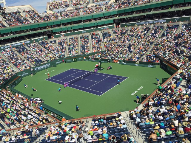 This year's BNP Paribas Open featured the return of tennis star Serena Williams (left) following a 14-year absence.