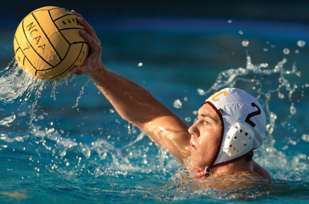 Water polo is a fast-growing sport that has seen participation increase at all levels, including the collegiate level. The 2014 NCAA championships were staged at the Canyonview Aquatic Center in La Jolla, California. Photo courtesy of Icon Sportswire via AP Images.