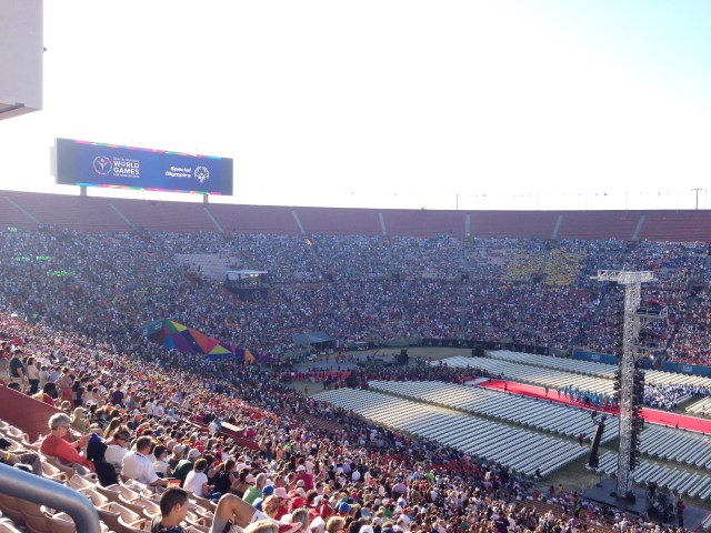 Athletes filing into Coliseum