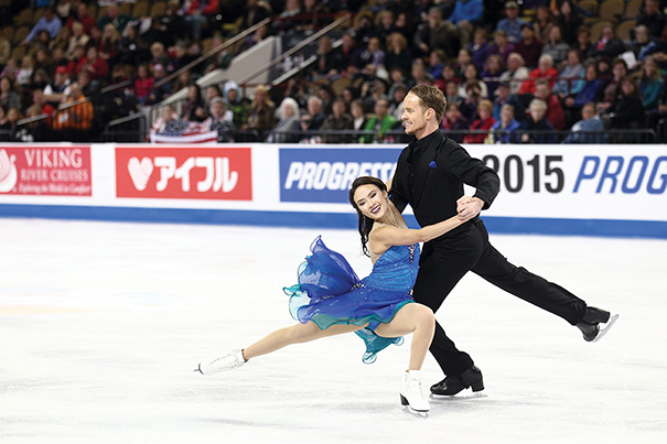 Madison Chock and Evan Bates won the ice dancing title at the 2015 Prudential U.S. Figure Skating Championships in Greensboro, North Carolina, and placed eighth at the 2014 Olympic Winter Games. Photo courtesy of Jay Adeff
