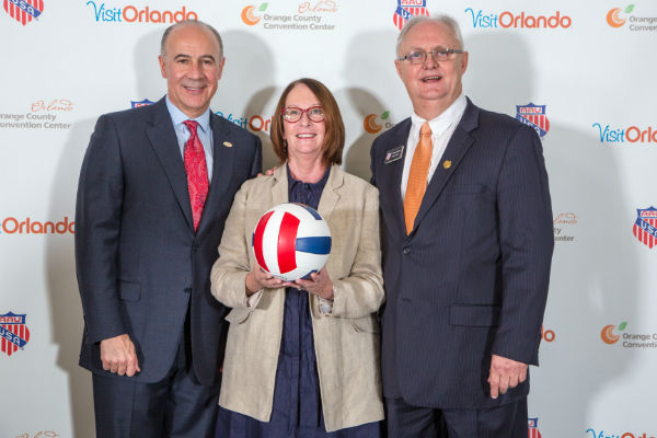 George Aguel, Visit Orlando, Kathie Canning, OCCC and Dr. Roger Goudy, AAU President/CEO