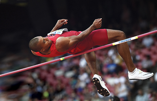 American Ashton Eaton set a world record in decathlon at the 2015 IAAF World Outdoor Championships and won a gold medal at the 2012 Olympic Summer Games. Photo courtesy of Franck Fife/AFP/Getty Images
