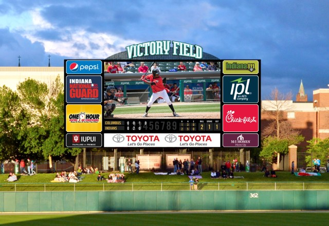 The highlight of the new enhancements will be an HD video board that will be three times the size of the current board. (Rendering courtesy of Indianapolis Indians)