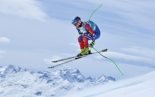 Steven Nyman is one of the top-ranked men's Alpine skiers on the U.S. team this season and is expected to compete at the finals in Aspen, Colorado, in March. Photo by Matthias Hangst/Getty Images