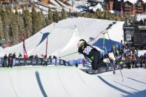Crews constructed the superpipe and a slopestyle course adjacent to each other at Breckenridge Ski Resort.