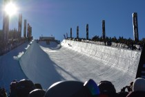Crews spent days assembling the superpipe for competition.