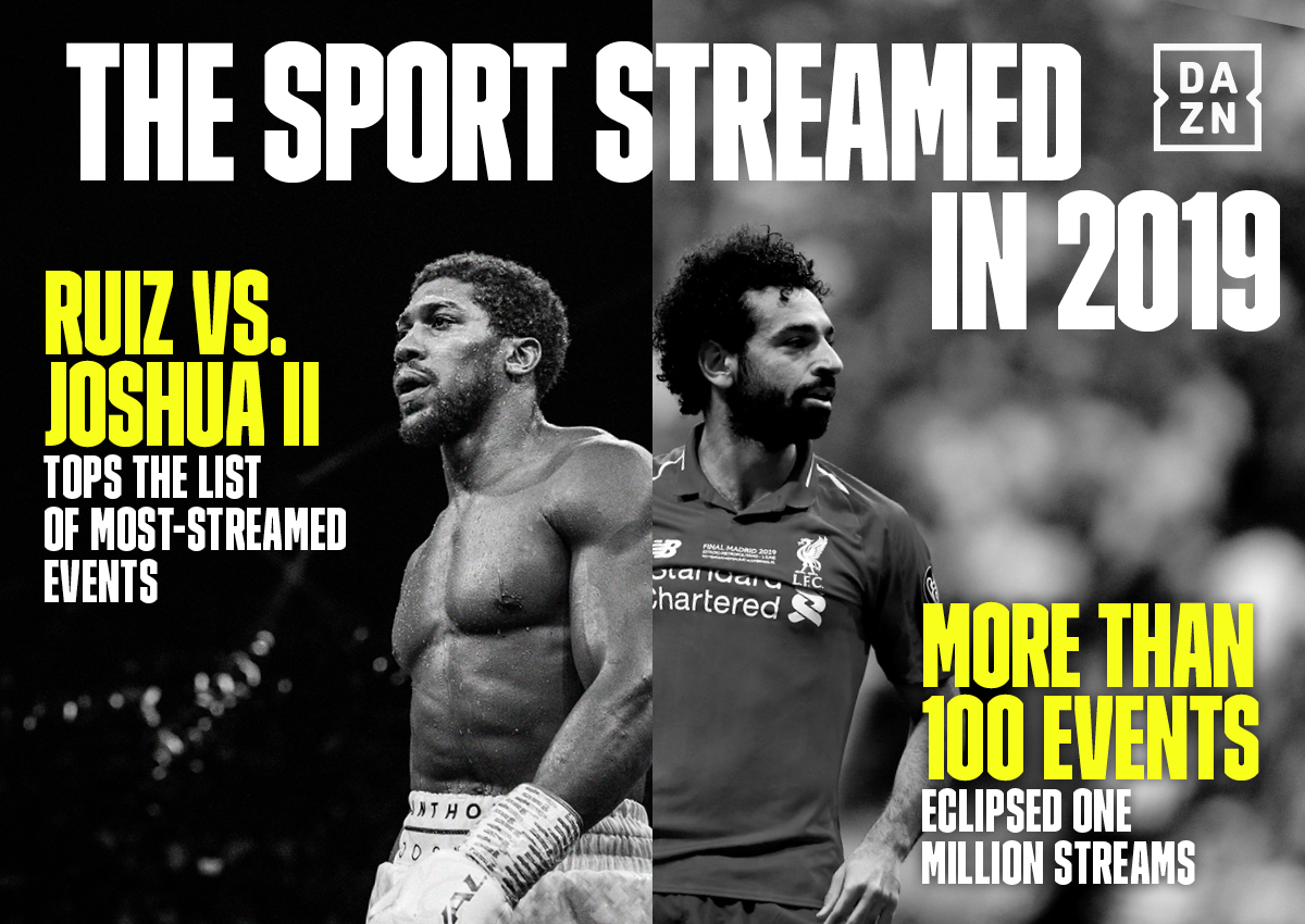 Dazn Goes Through Successful 2019 With More Than 100 Events Over 1 Million Streams