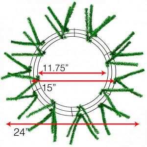 "15-24"" Wreath Frames"