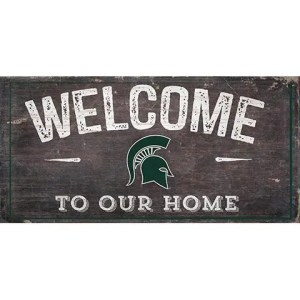 Michigan State Welcome Sign