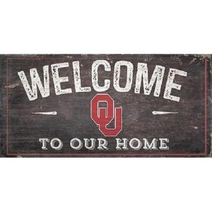 Oklahoma Sooners Welcome Sign